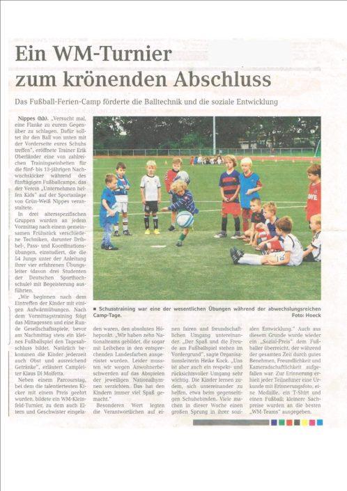 Ferienfussballcamps Köln