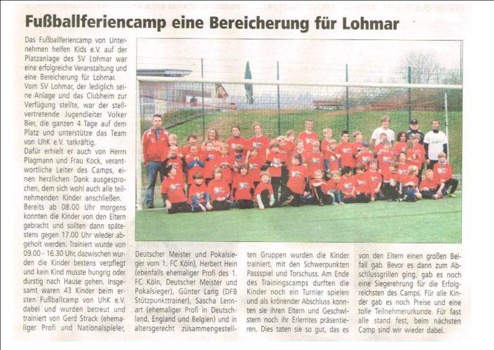Fussballferiencamps Lohmar