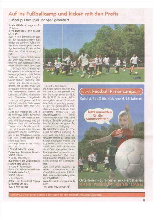 Fussbalferienlcamps Rösrath