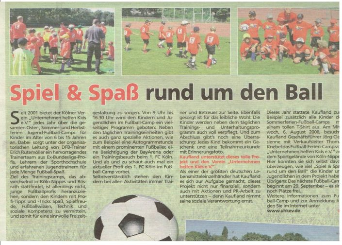 Fussballferiencamps Köln