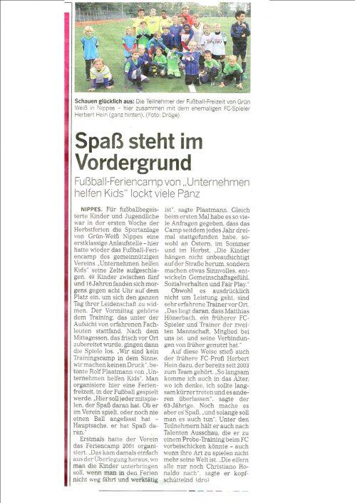 Fussballferiencamps Köln 26.10.2017
